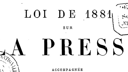 Droit pénal de la presse